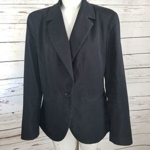 WORTHINGTON STRETCH NAVY BLAZER SIZSE 16